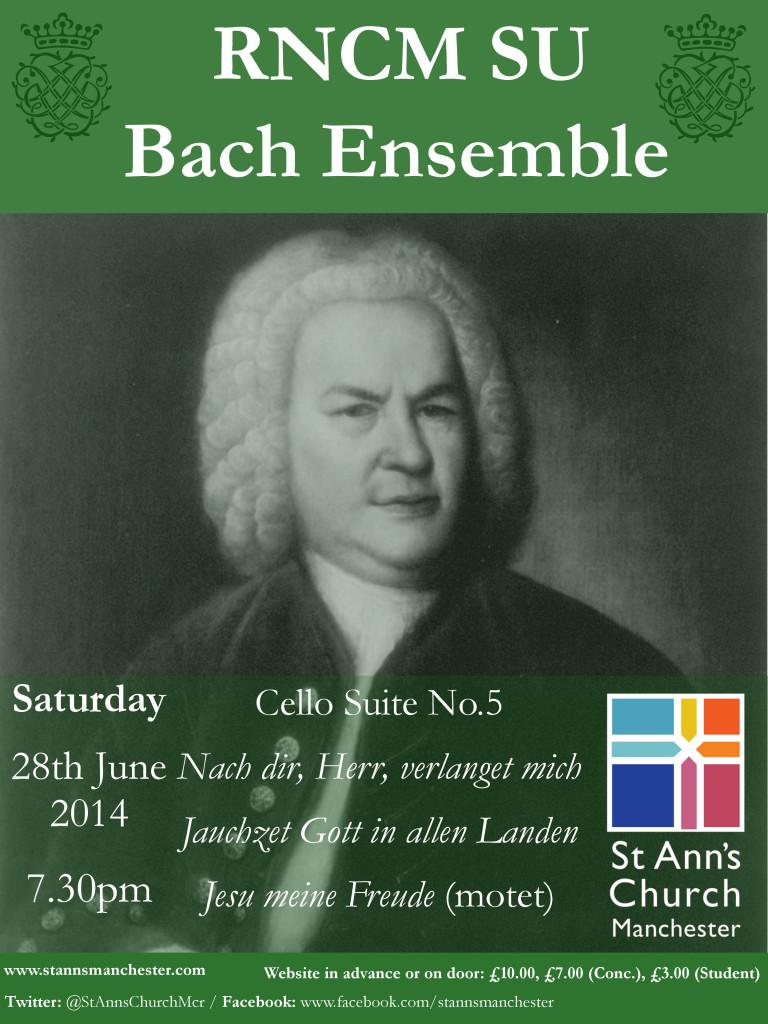 St Ann's Poster Design Bach